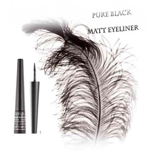 Karaja Pure Black Matt Eyeliner - Matt Vízálló Szemhéjtus